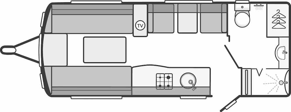 Continental 530 - 4 Berth, Side Dinette, End Washroom