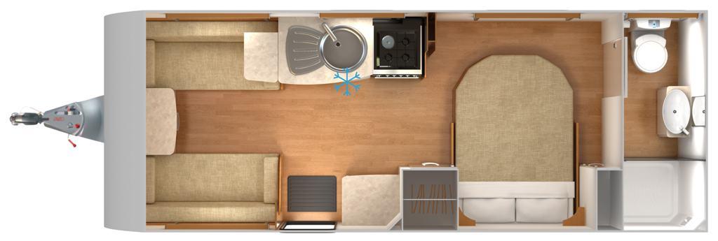 Lexon 560 - 4 Berth, Transverse Fixed Bed, End Bathroom