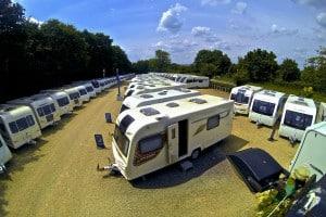 Sales Ground at Oxford Caravans