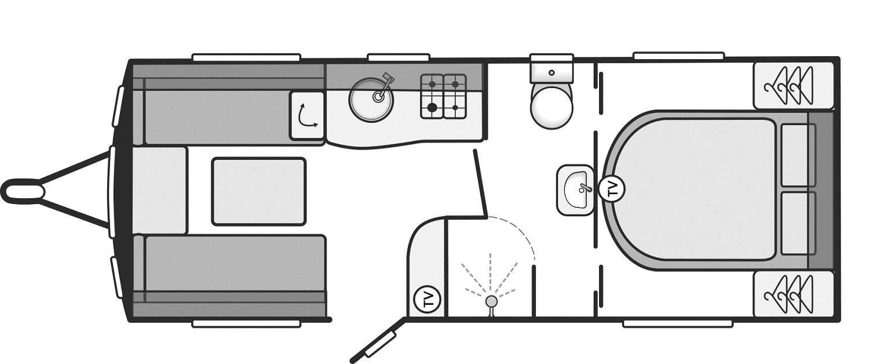 Sterling Eccles 560 - 4 Berth, End Bedroom, Centre Washroom