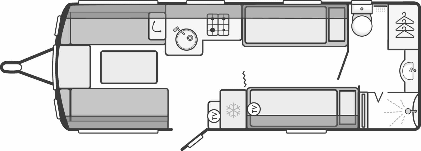 Sterling Elite 565 - 4 Berth, Two Single Beds, End Washroom