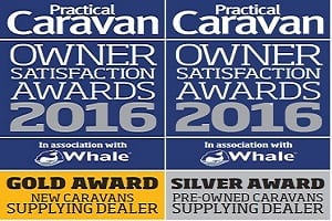Gold & Silver Awards at the Practical Caravans Owner Satisfaction Awards 2016 for New and Pre-Owned Caravans