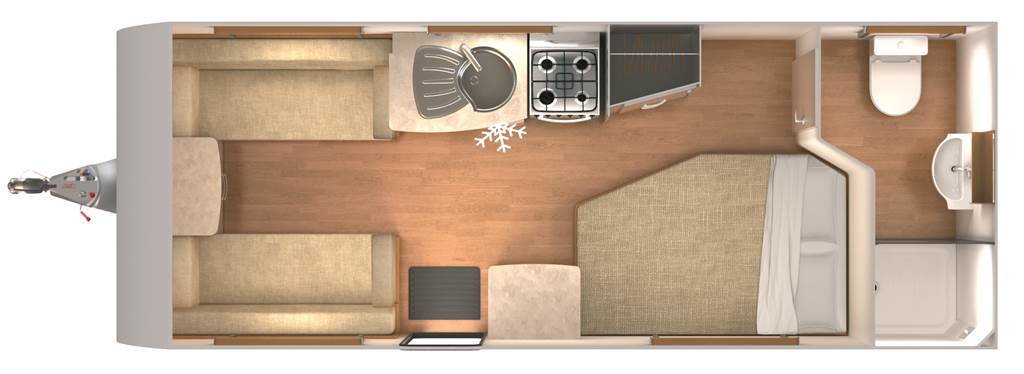 Lexon 540 - 4 Berth, Fixed Bed, End Washroom