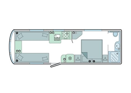 Cartagena - 4 Berth, Twin Axle, Transverse Fixed Bed, End Washroom
