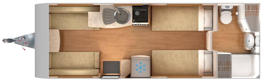 Delta TS - 4 Berth, Twin Axle, Two Single Beds, End Bathroom