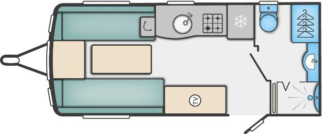 Challenger 480 - 2 Berth, End Washroom