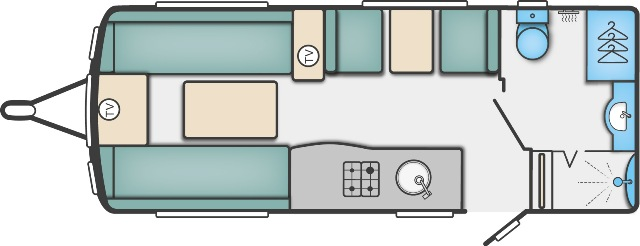 Elegance 530 - 4 Berth, End Washroom, Side Dinette
