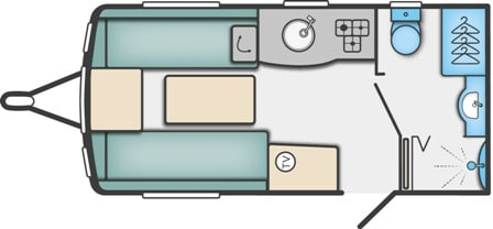 Alpine 2 - 2 Berth, End Washroom