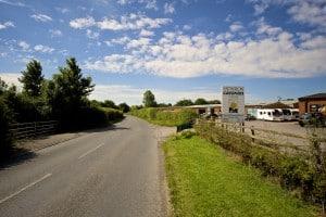 Entrance to Swindon Caravans