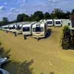Sales Forecourt at Oxford Caravans