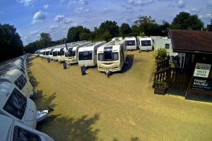 Sales Forecourt at Oxford Caravans
