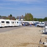 Exterior shot of Reading Caravans by the despatch yard