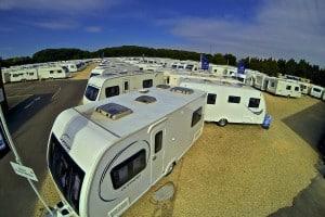 Caravan Showground in Wiltshire