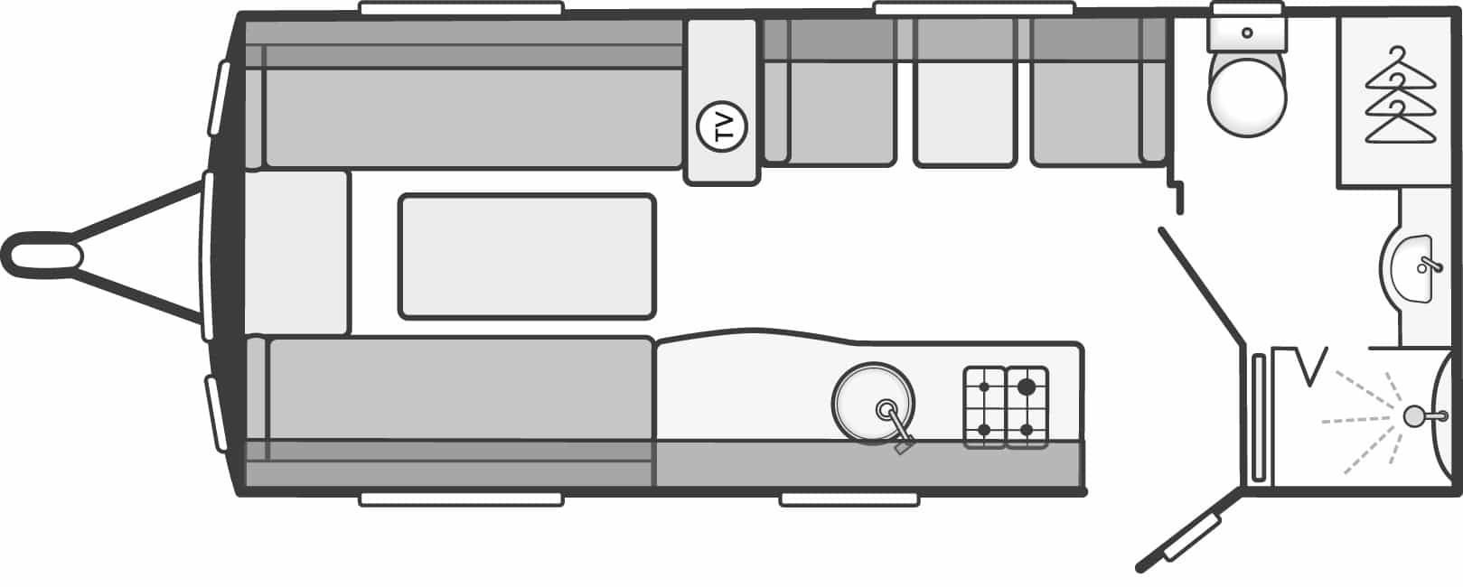 Swift Eccles 530 - 4 Berth, Side Dinette, End Washroom