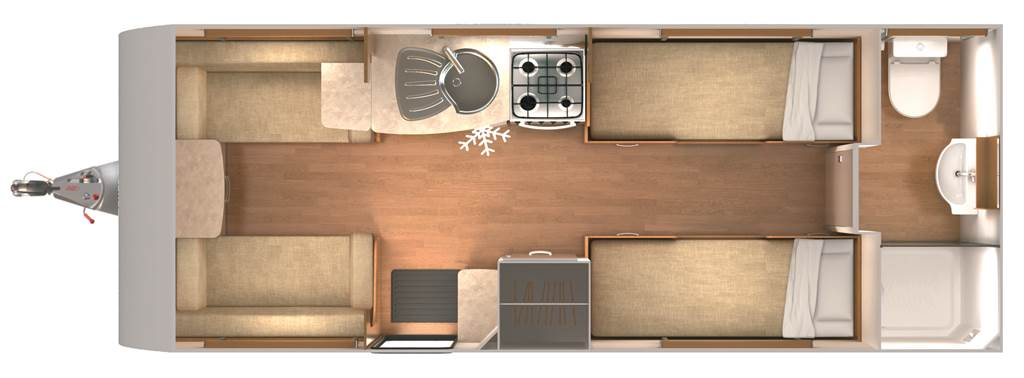 Clubman SB - 4 Berth, Two Single Beds, End Washroom