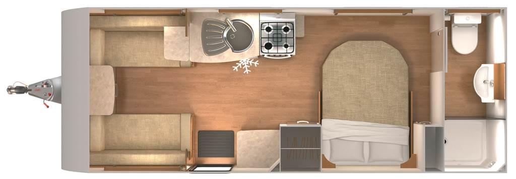 Clubman SI - 4 Berth, Transverse Fixed Bed, End Washroom