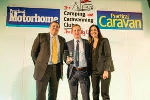 swindon caravans group winning 2017 best supplying dealer of pre-owned caravans in the country
