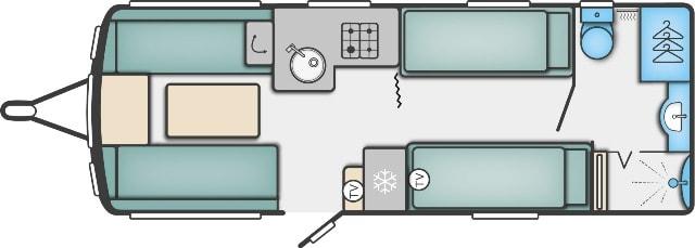 Conqueror 565 - 4 Berth, Two Single Beds, End Washroom
