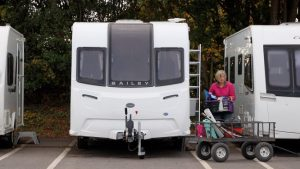 Cleaning and preparing the caravan