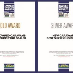 2019 gold and silver owner satisfaction award for new and used caravans