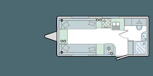 Merida - 2 Berth, End Washroom