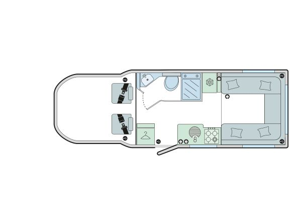 Autograph 69-2: 2 Berth, Rear Dinette, Centre Washroom