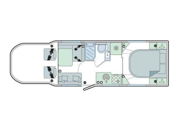 Autograph 79-4I: 4 Berth, Forward Facing Front Dinette, End Fixed Bed, Side Washroom