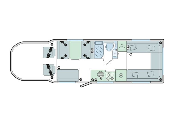 Autograph 81-6: 6 Berth, Front & Rear Dinette, Side Washroom