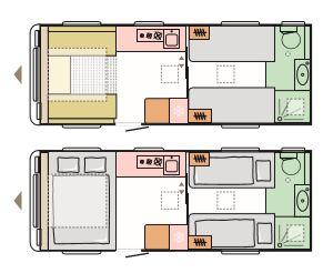Colorado - 4 Berth, 2 Single Beds, End Washroom