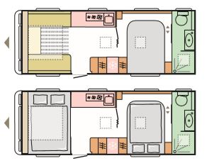 Mississippi - 4 Berth, Transverse Fixed Bed, End Washroom