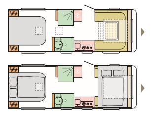 Dart - 4 Berth, Fixed Rear Island Bed, Centre Washroom