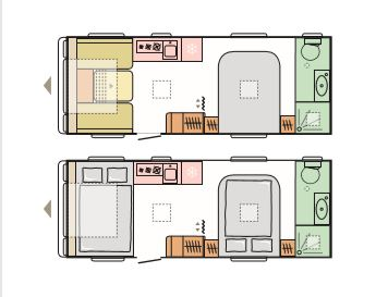 Isonzo - 4 Berth, Transverse Fixed Bed, End Washroom