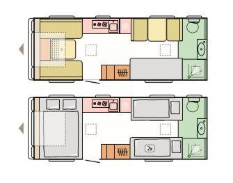 Sava - 5 Berth, Side Dinette, Bunk Beds, End Washroom