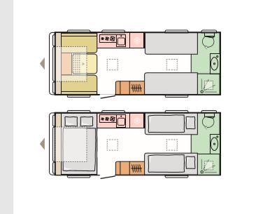 Seine - 4 Berth, 2 Single Beds, End Washroom