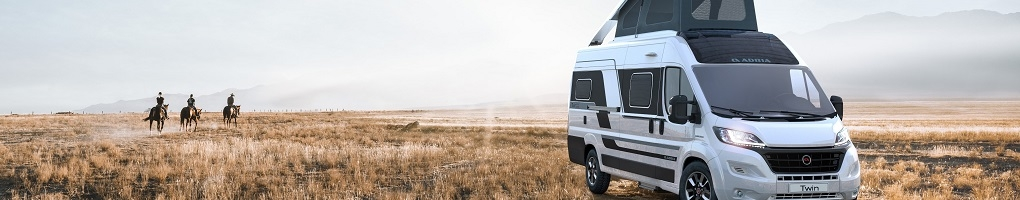 New Adria Twin Campervans for sale at Swindon Caravans Group